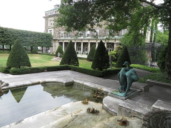 Kykuit: A view of the main house from one of the many garden areas