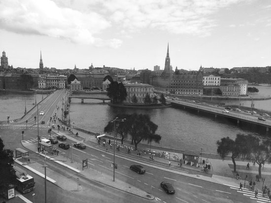 Sheraton Stockholm Hotel: View from my hotel bedroom