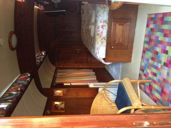 Hotel de Emauspoort : Caravan interior from door.