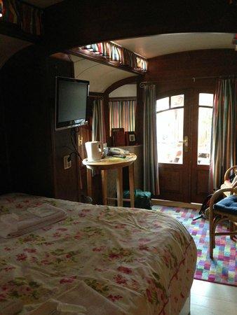 Hotel de Emauspoort : Caravan interior from bed.