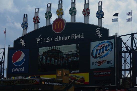 Guaranteed Rate Field : View of the scoreboard