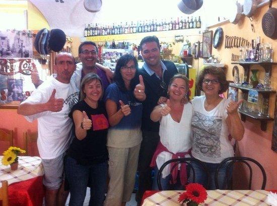 Trattoria Familiare da Michele & Jolanda: Muy satisfechos!