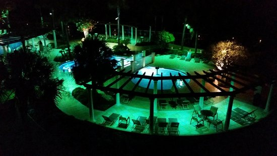 The King and Prince Beach and Golf Resort: Nighttime view from our ocean front room
