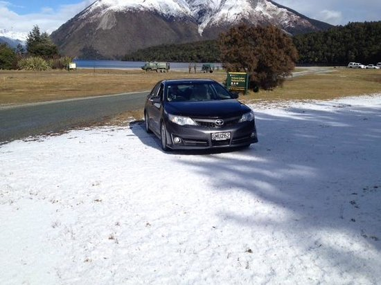 Nelson Lakes National Park : snow with the car