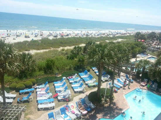 Sea Crest Oceanfront Resort : view from our balcony