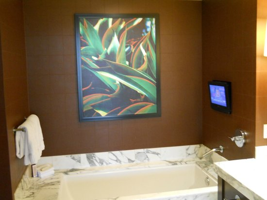 Red Rock Casino Resort & Spa : Jacuzzi tub & TV