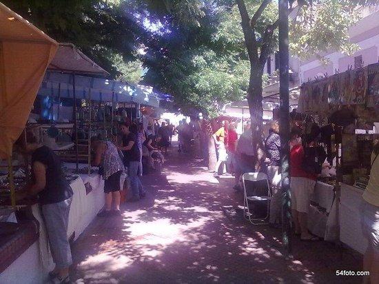 San Telmo: Plaza Dorrego alrededor de las 10