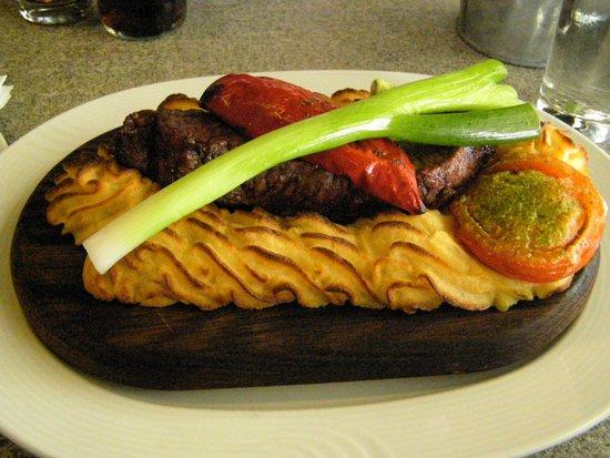 Restaurant Krabben: Plankesteak med oksefilet