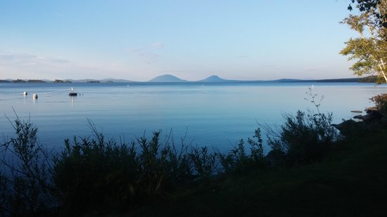 Wilsons on Moosehead Lake: View of the two Spencer Mountains across the lake.