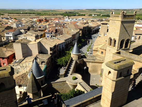 هوتل لا جويوسا جواردا: Vista de Olite desde el Palacio Real