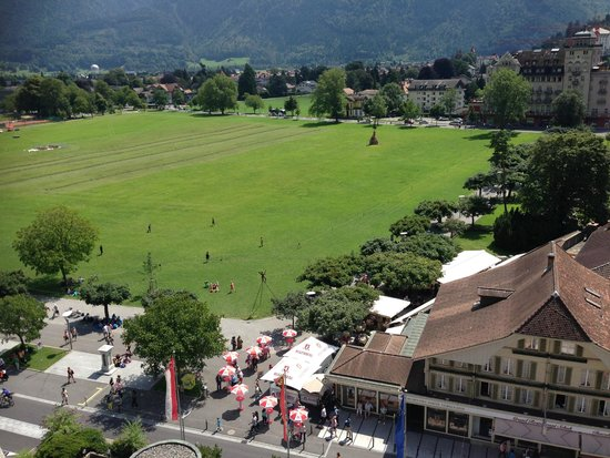 Metropole Hotel Interlaken : The view from the room