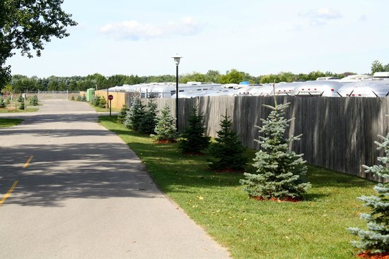 Holiday Park Campground : Along Our Storage Fence