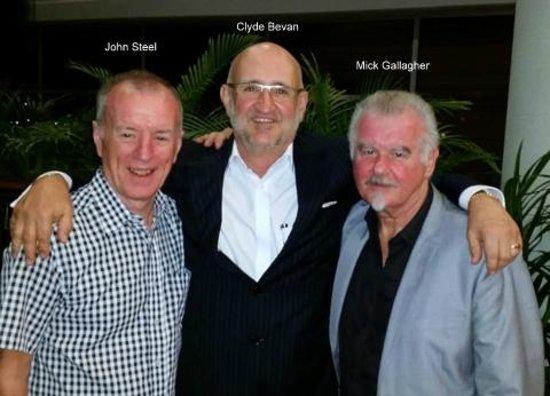 Friends Restaurant: John Steel, Clyde Bevan and Mick Gallagher