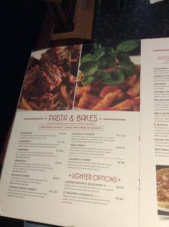 Little Frankies: Menu choices of which there are many!