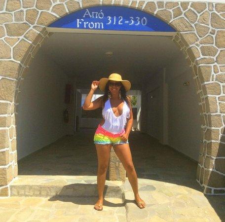 Lagada Beach Hotel: CAMINHO PARA OS QUARTOS