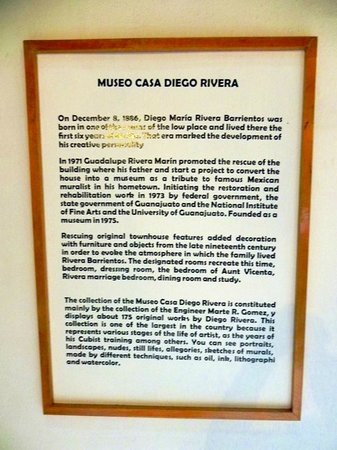 Diego Rivera Museum and Home (Museo Casa Diego Rivera): Signage