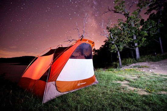 McCurtain County, OK: Starlit tent