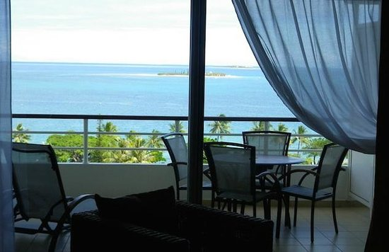 Hilton Noumea La Promenade Residences: カナール島、メトル島が見えます