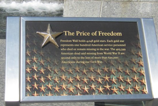 National World War II Memorial: Wall of Stars  Depict Thousands that Died