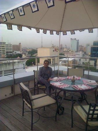 Taj Club House: Roof top dining area - Kefi