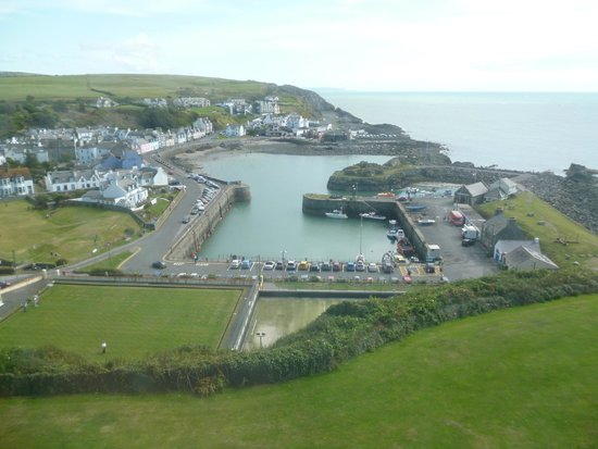 The Portpatrick Hotel: View from the front window.