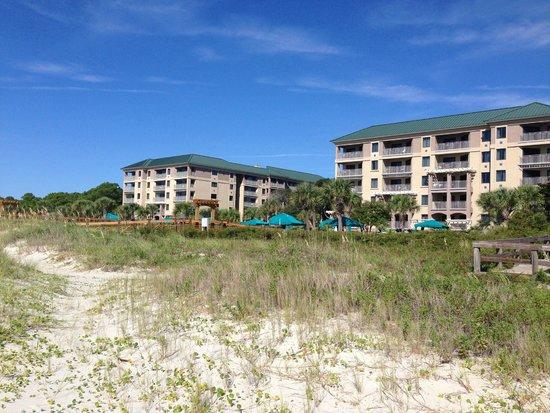 Marriott's Barony Beach Club: view from ocean