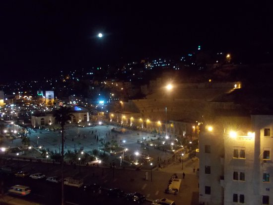 Amman Pasha Hotel : View from room 507 at night
