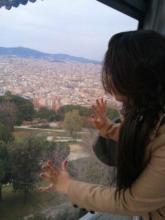 Parc de Montjuic : telepherique de Montjuïc