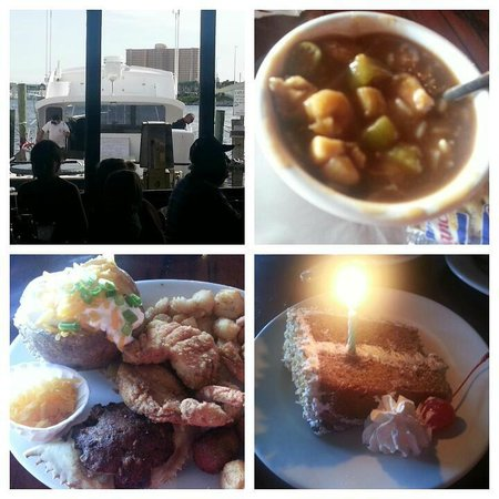 Capt. Anderson's Restaurant : View, Gumbo, Feast and Birthday Cake