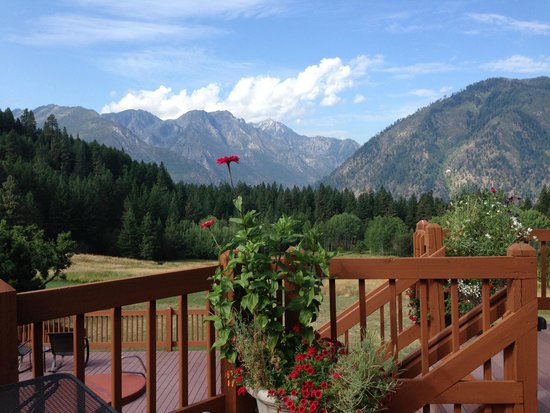 Mountain Home Lodge: View from the deck.