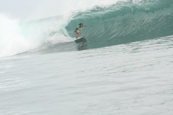 Albergue Morro Negrito: Conner on the wave of the day at the Point