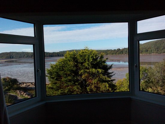 Roughfirth House: view from the room