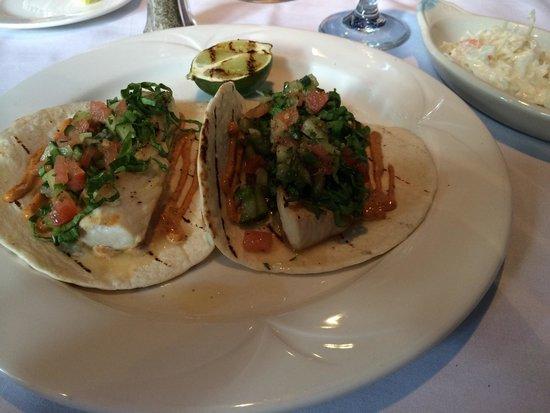 Monterey Bay Fish Grotto: Mahi Mahi tacos with side if cole slaw
