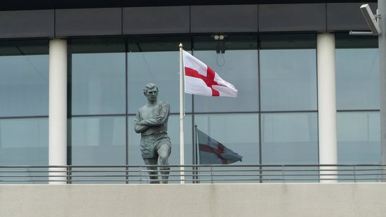 Wembley Stadium: Bobby Moore, World Cup winning captain, watches over Wembley