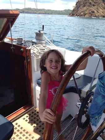 The Seabird Sailing Catamaran Tours: Little cap'n fishy