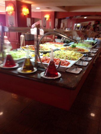 H·TOP Calella Palace : Salads and cold meat selection