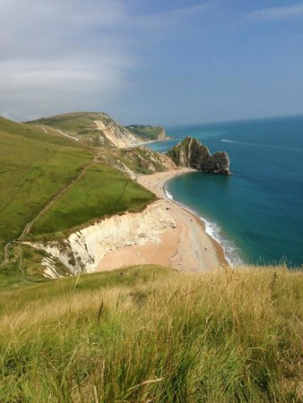 Bishops : View from Coastal path looking back toward Durdle door and Lulworth