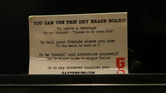 Hotel Gaythering: The message on the door