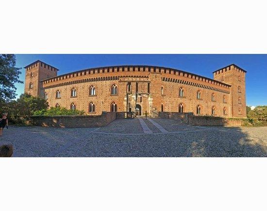 Musei Civici di Pavia Castello Visconteo: front of the castle, facing the city