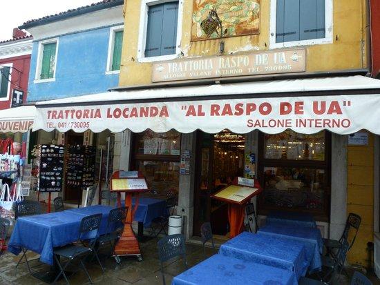 Trattoria Raspo de Ua : View from the street