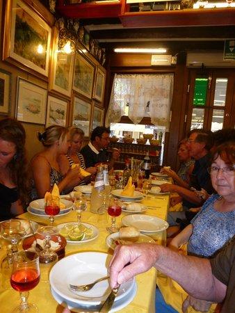 Trattoria Raspo de Ua : Our group dining and wining