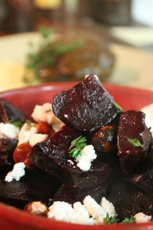 The Press Room Wine Bar: Beetroot, Candied Walnut & Feta Warm Salad with PX Dressing