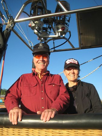 Fair Winds Hot Air Balloon Flights : Dad and I enjoying our balloon ride