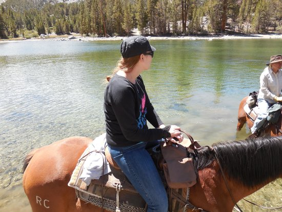 Rock Creek Pack Station: Watering the horses in Dorothy Lake