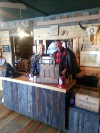 Desperados Cowboy Restaurant: Owner, Dan and I.