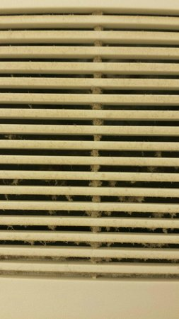 Ocean Shores, Waszyngton: Dust covered air vent in room