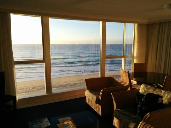 Golden Sands Holiday Apartments: View from Main room