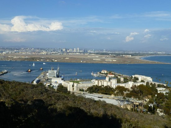 Fort Rosecrans Cemetery : View of Submarine Base