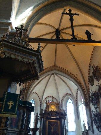 Tallinn Old Town: Detail of Beautiful Church Ceiling