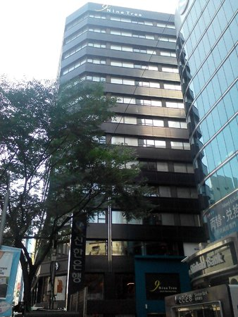Nine Tree Hotel Myeong-dong : just 5 mints you walk out from Myeondong sub station.. you can see Nine Tree Hotel Building..